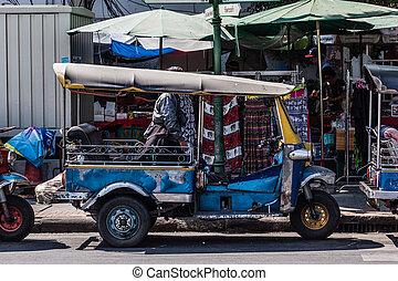 Tuktuk - Thai style tricycle called tuktuk or samlor in Thai...