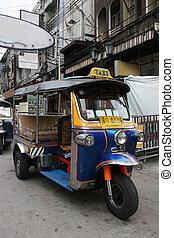 TukTuk - Tuk Tuk taxi on Khaosan Road Bangkok Thailand