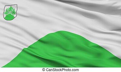 Tukums City Flag, Latvia, Closeup View - Tukums City Flag,...