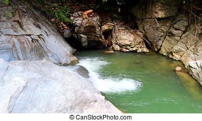 Tukuran waterfalls on Oriental Mindoro in the Philippines