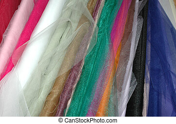 Tule Bolts - Bolts of tule fabric.