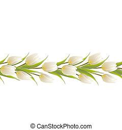 tulipán, visszaugrik virág, csokor, helyett, -e, kártya