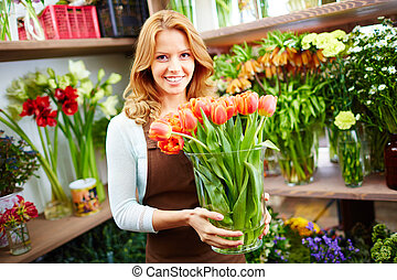 tulipánok, női