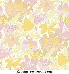 Tulip and daffodil flowers seamless pattern