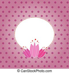 Tulip card template with frame