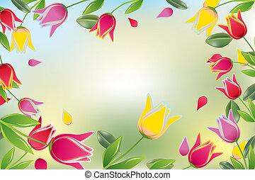 Tulip colorful card