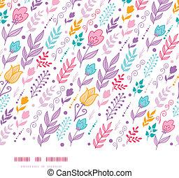 Tulip field flowers horizontal seamless pattern background -...