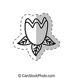 tulip flower cut line vector illustraiton eps 10