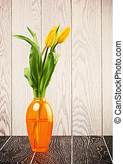 Tulip Flowers Bouquet In Vase
