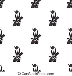 tulip icon on white background