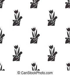 tulip icon on white background