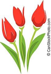 Tulip stylized vector illustration. isolated symbol