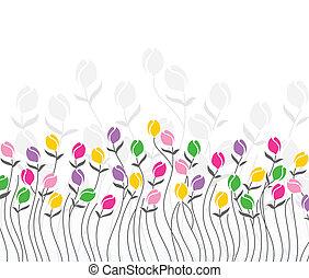 tulipa, flores, cartão cumprimento