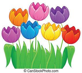 tulipan, image, blomst, tema, 4