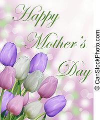 tulipano, Felice, giorno, Scheda, madre