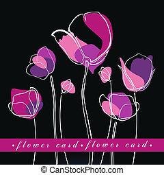 tulipany, kwiat, tło
