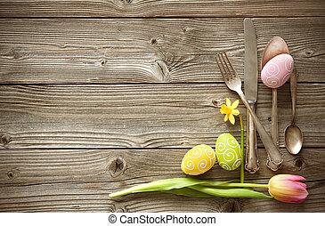 tulipes, Coutellerie, monture, Printemps,  table, Paques