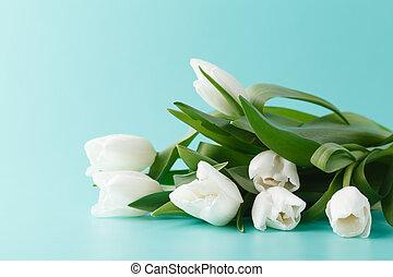 tulipes, tas, printemps