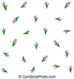 tulips., イラスト, ベクトル, 背景, あなたの, design.
