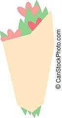 Tulips bouquet vector illustration.