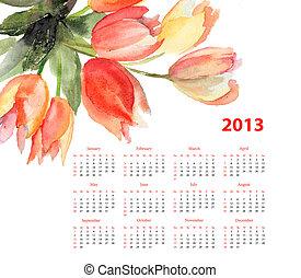 tulips, flores, original