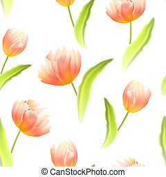 tulips., fondo, seamless