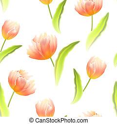 tulips., seamless, fondo