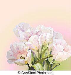 Tulips. Spring flowers invitation t