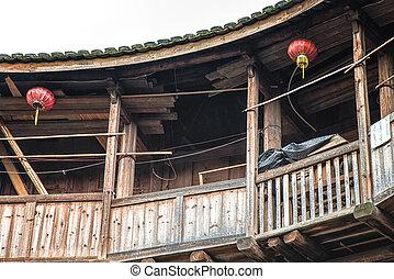 Interno porcellana tulou foto cerca foto clip art for Casa tradizionale cinese