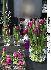 tulpen, in, inneneinrichtung