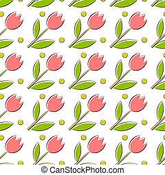 tulpen, seamless, textuur
