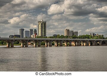 Tulsa Skyline with Arkansas river