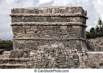 tulum, フレスコ画, 古代, mayan, 寺院