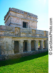 tulum, en, maya, construccion, méxico