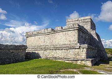 tulum, maya, 台なし, メキシコ\