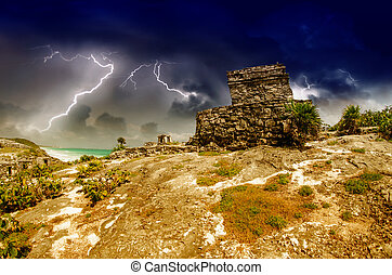 Tulum Mayan Ruins, Mexico - Tulum Mayan Ruins in Mexico