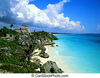 Tulum mexico - Tulum mayan ruins and fantastic beach, mexico...