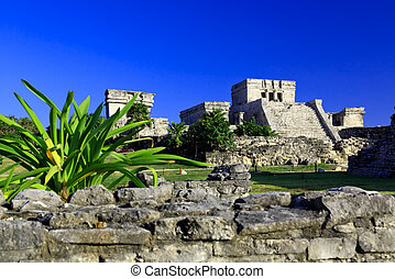 Tulum ruins in the Maya World near Cancun - Tulum the one of...