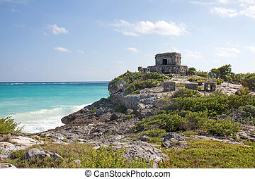 Tulum ruins, Mexico - Mayan ruins in Tulum, Mexico