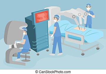 tumör, kirurgi, avlägsen, folk