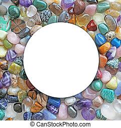 Tumbled Multicoloured Crystal Circle Border