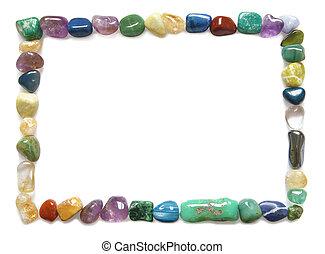 Tumbled stone crystal border