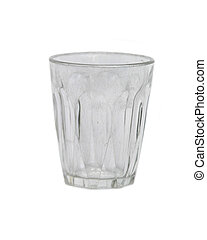 A tumbler Isolated on white with clipping path.