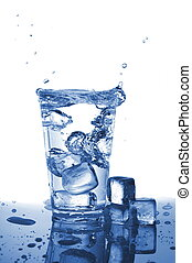 tumbler of fresh water
