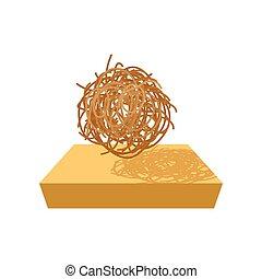 tumbleweed, dessin animé, icône