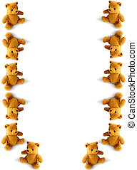 teddies tumbling down the page