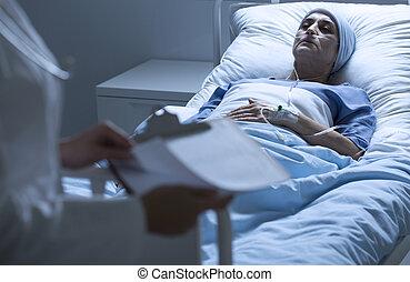 tumeur, patient, mort