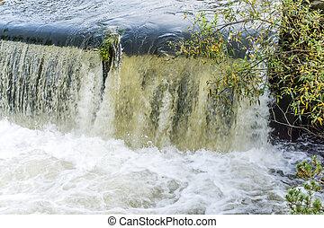 Tumwater Falls Park Waterfall Close-up