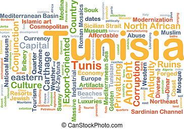 tunísia, conceito, fundo