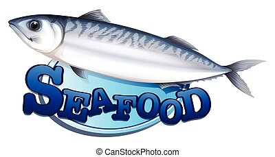 Tuna and seafood sign illustration